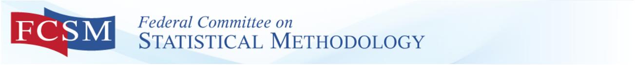 fcsm federal committee on statistical methodology