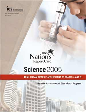 Image of the 2005 TUDA Science report card cover