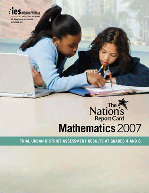 Image of the cover of the 2007 TUDA Mathematics report card