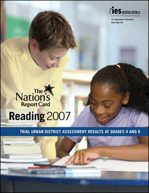 Image of the cover of the 2007 TUDA Reading report card
