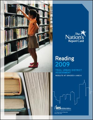 Image of the cover of the 2009 Reeading Trial Urban District Assessment report.