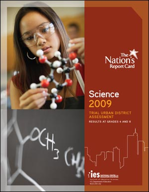 Image of the cover of the 2009 Science Trial Urban District Assessment report.