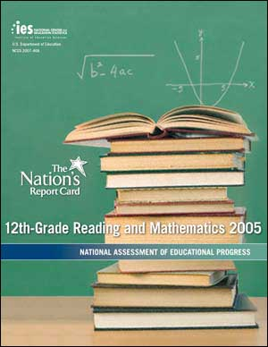 Image of the NAEP Grade 12 report card cover