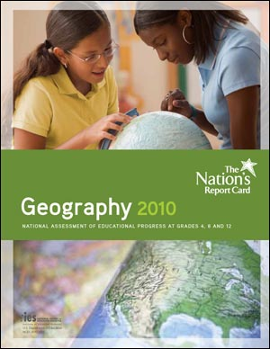 The cover image of the NAEP 2010 Geography report card.