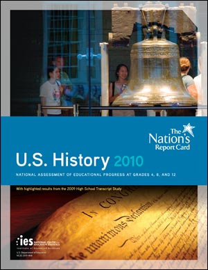 The cover image of the NAEP 2010 U.S. History report card