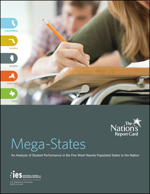 Cover image of The Nation's Report Card: 2011 Mega-States report.