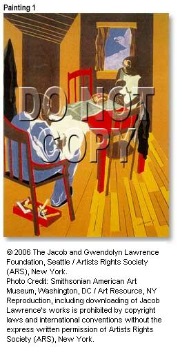 In a Free Government ..., Copyright 2006 The Jacob and Gwendolyn Lawrence Foundation, Seattle / Artists Rights Society (ARS), New York. Photo Credit: Smithsonian American Art Museum, Washington, DC / Art Resource, NY. Reproduction, including downloading of Jacob Lawrence's works is prohibited by copyright laws and international conventions without the express written permission of Artists Rights Society (ARS), New York.