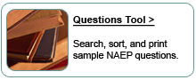 NAEP Questions Tool.  Search, sort, and print sample NAEP questions.