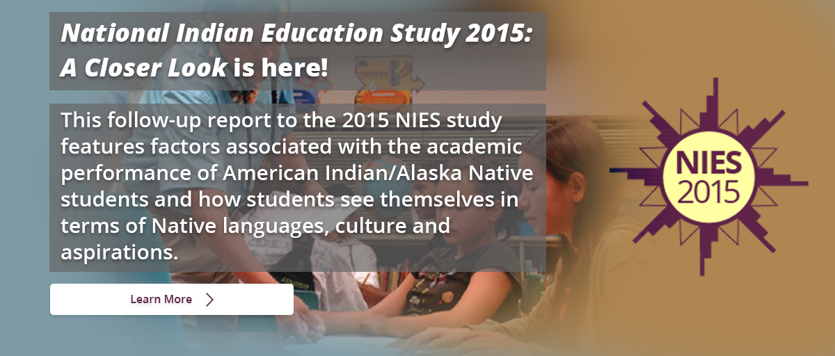 This follow-up report to the 2015 NIES study features factors associated with the academic performance of American Indian/Alaska Native students and how students see themselves in terms of Native languages, culture and aspirations. Learn More.