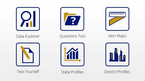 Images of NAEP data tool suite.
