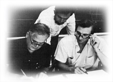Pioneer NAEP researchers, John W. Tukey, Robert Abelson, and Lyle V. Jones, in 1970.