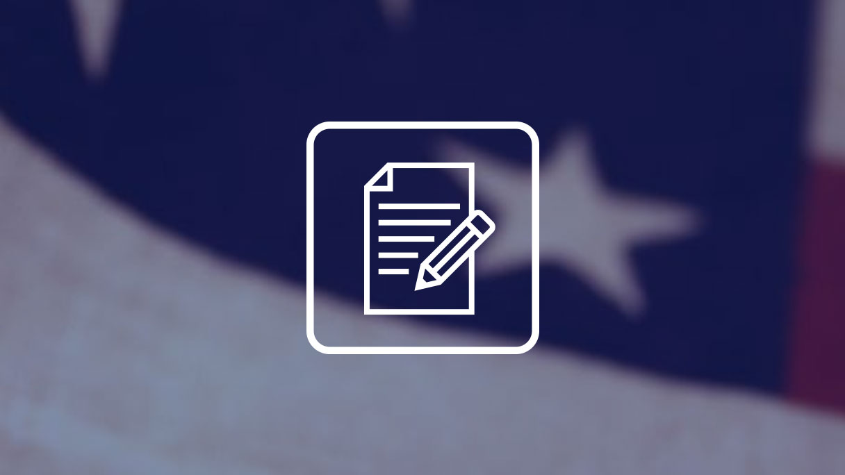 Writing icon, United States flag