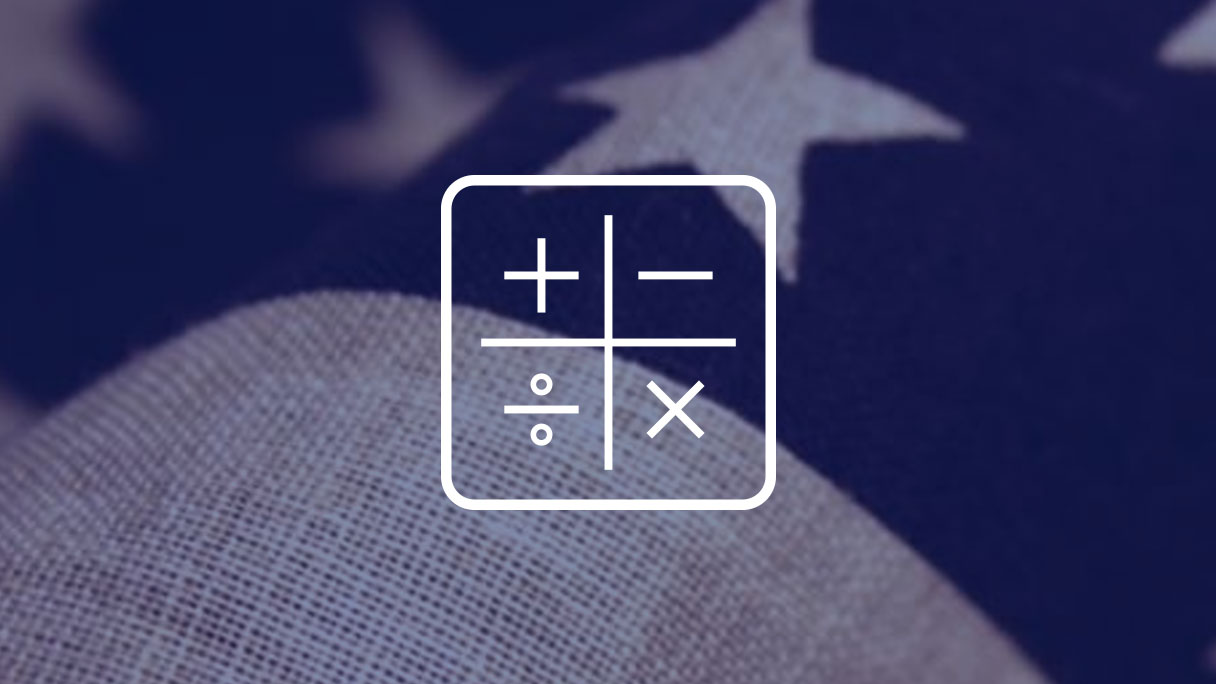 Mathematics icon, United States flag