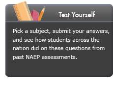Test Yourself. Pick a subject, submit your answers, and see how students across the nation did on these questions from past NAEP assessments.