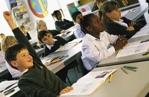 Image of children in a classroom setting from the Executive Summary section of the NAEP America's Charter Schools report.