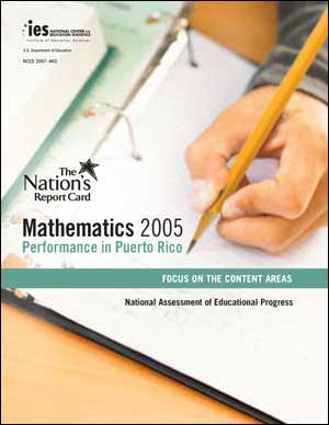 Image of the 2005 NAEP Mathematics Performance in Puerto Rico Content Report