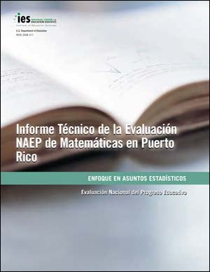 Cover image of The Nation's Report Card; Technical Report of the NAEP Mathematics Assessment in Puerto Rico; Focus on Statistical Issues