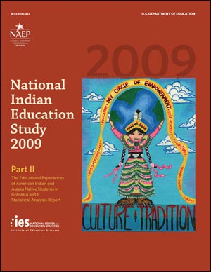 Image of the cover of the 2009 National Indian Education Study: Part II report.