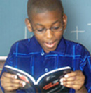 Student reading outloud