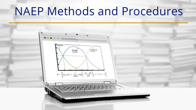 Image of laptop displaying NAEP Technical Methods and Procedures online.